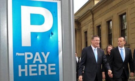 Denis Napthine (left) and Tony Abbott