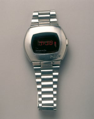 Hamilton Pulsar digital wristwatch, 1972, the first electronic digital watch.