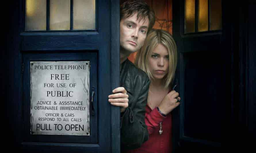 David Tennant as the Doctor and Billie Piper as Rose in Doctor Who in 2005.