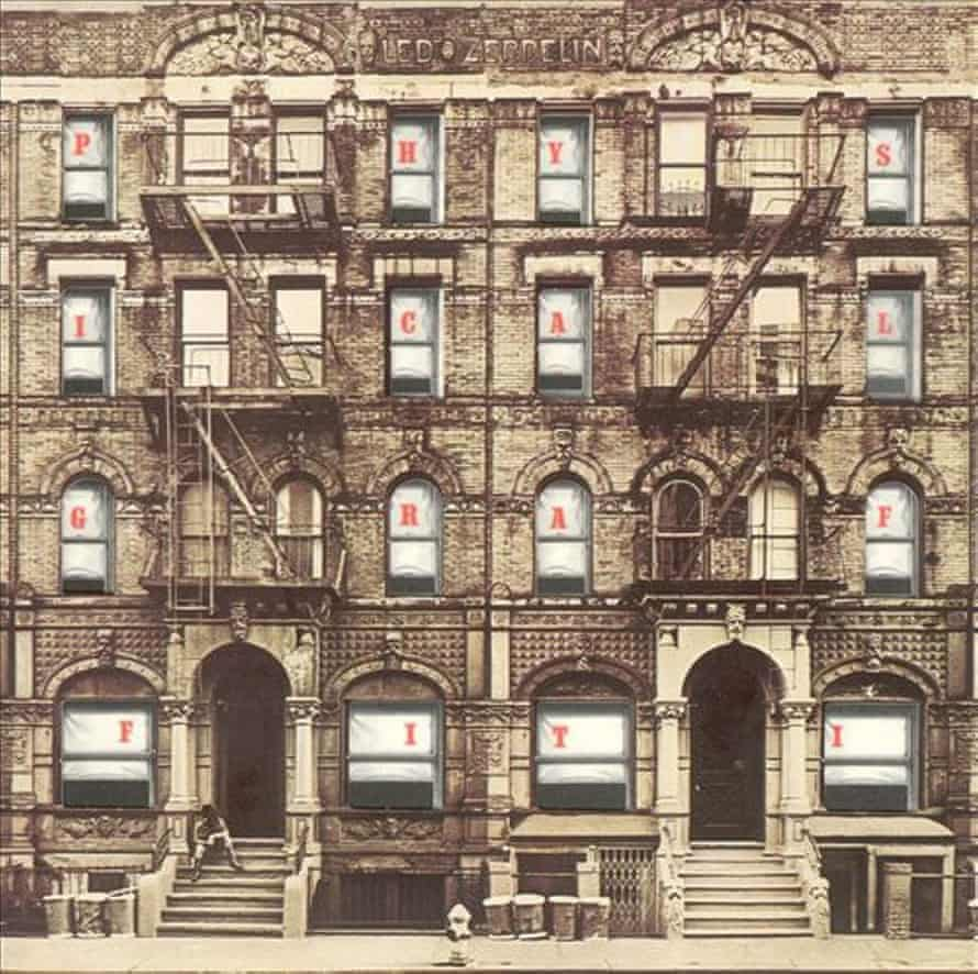 The cover of Led Zeppelin's 1975 album Physical Graffiti