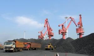 A coal port in China's Jiangsu province