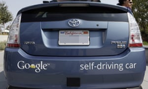 A Google driverless car in California