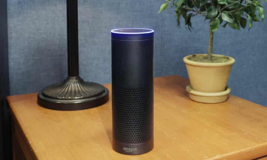 Amazon  Echo on a desk