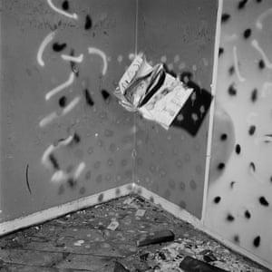 Break-in … a photograph from John Divola's Vandalism series taken in 1974-75.