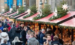 Christmas fair in Edinburgh.