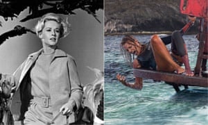 Tippi Hedren in The Birds and Blake Lively in The Shallows