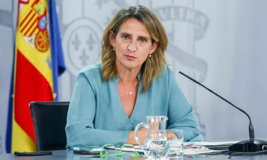 Spain's minister for ecological transition, Teresa Ribera