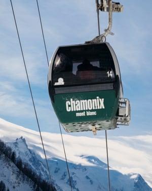 A Chamonix cable car