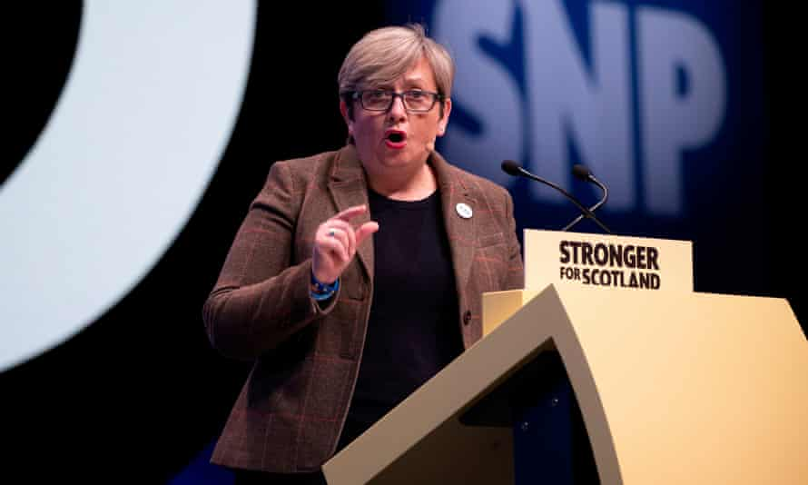 Joanna Cherry speaking at conference