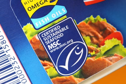 Marine Stewardship Council MSC tin of tuna certified sustainable seafood. Image shot 01/2013. Exact date unknown.D2KDK1 Marine Stewardship Council MSC tin of tuna certified sustainable seafood. Image shot 01/2013. Exact date unknown.
