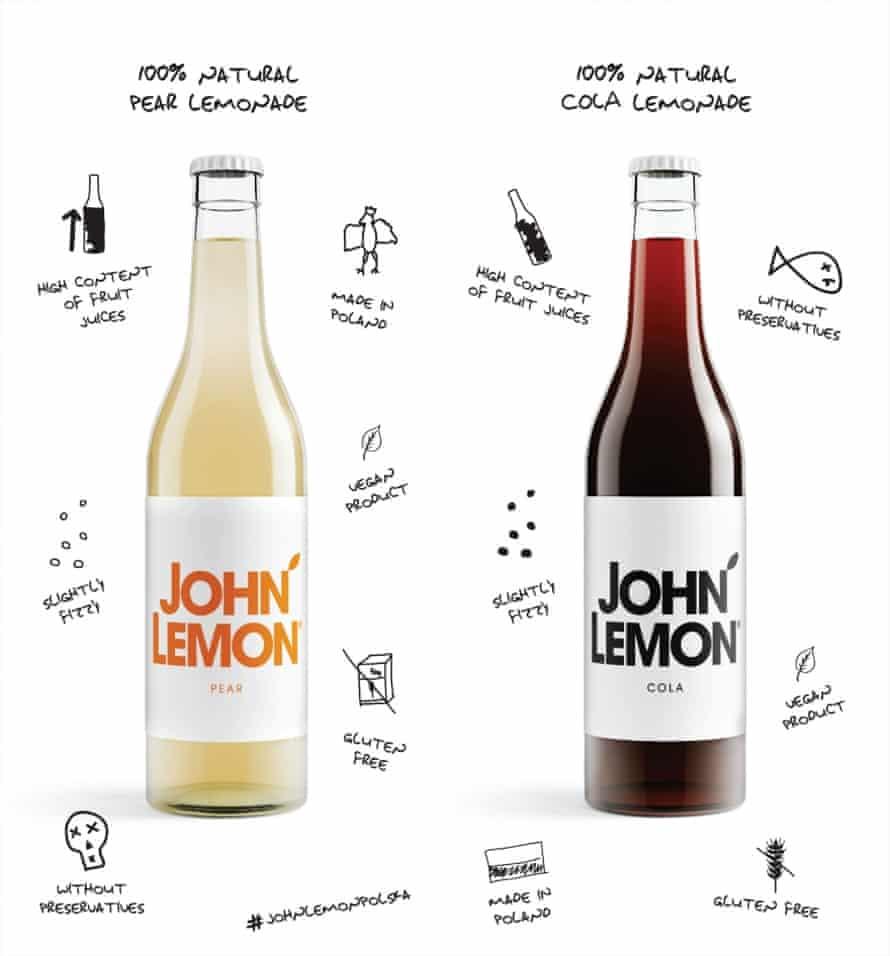 John Lemon pear and cola lemonade