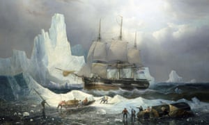 HMS Erebus in the Ice by François Etienne Musin, 1846.