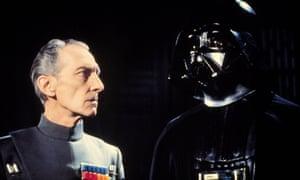 Peter Cushing in Star Wars (1977).