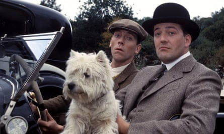 Hugh Laurie (centre) as Bertie Wooster, who, so far as I can tell, never said 'toodle-pip'
