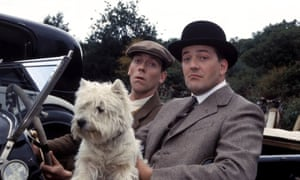 Hugh Laurie and Stephen Fry as Wooster and Jeeves