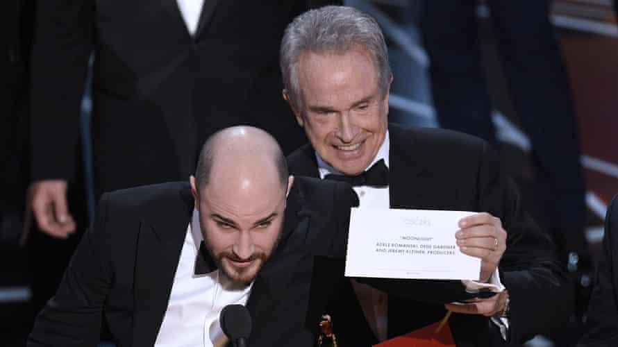 Warren Beatty and La La Land producer Jordan Horowitz