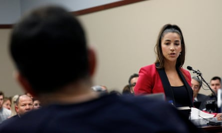 Olympic gold medalist Aly Raisman was one of the women to testify against Larry Nassar in January