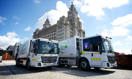 Bin lorries in liverpool