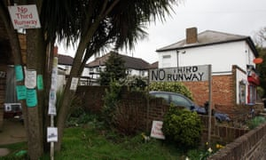 No third runway signs in the village of Sipson.