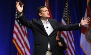 Ted Cruz addresses the Sunshine Summit in Orlando, Florida, on Friday.