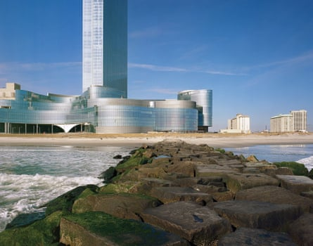 'One day it will all be washed away' … Ocean Resort, formerly the Revel, seen from the sea.