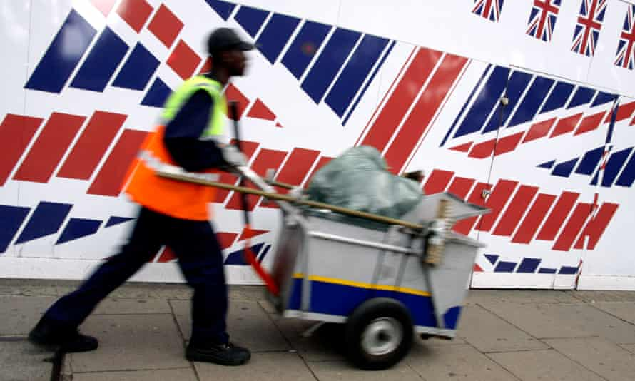 A street cleaner in central London.