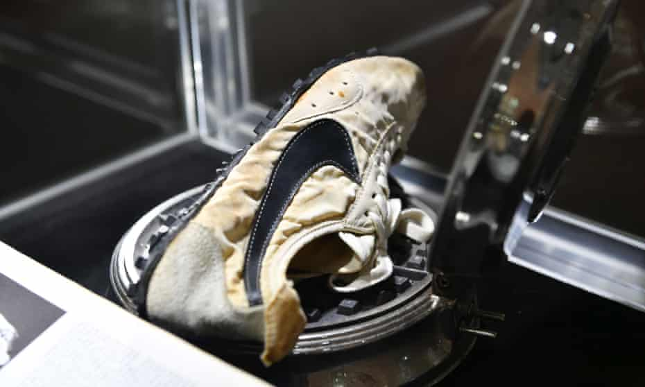 The Nike 'Moon Shoes' were bought by Canadian investor Miles Nadal for $437,500 at Sotheby's in New York.
