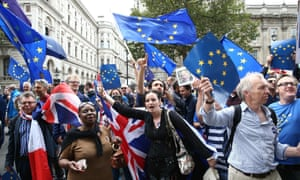 Pro and anti Brexit demonstrators clash in the run up to EU referendum