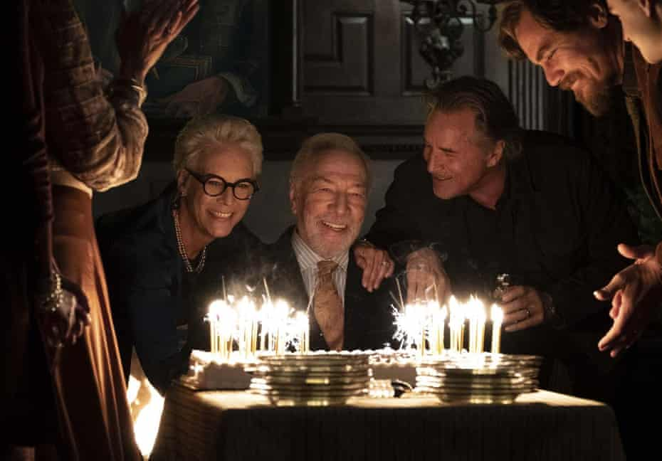 From left, Jamie Lee Curtis, Christopher Plummer, Don Johnson and Michael Shannon in Knives Out.