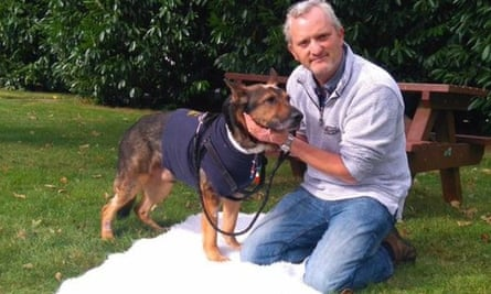 Police dog Finn with his handler, Dave Wardell