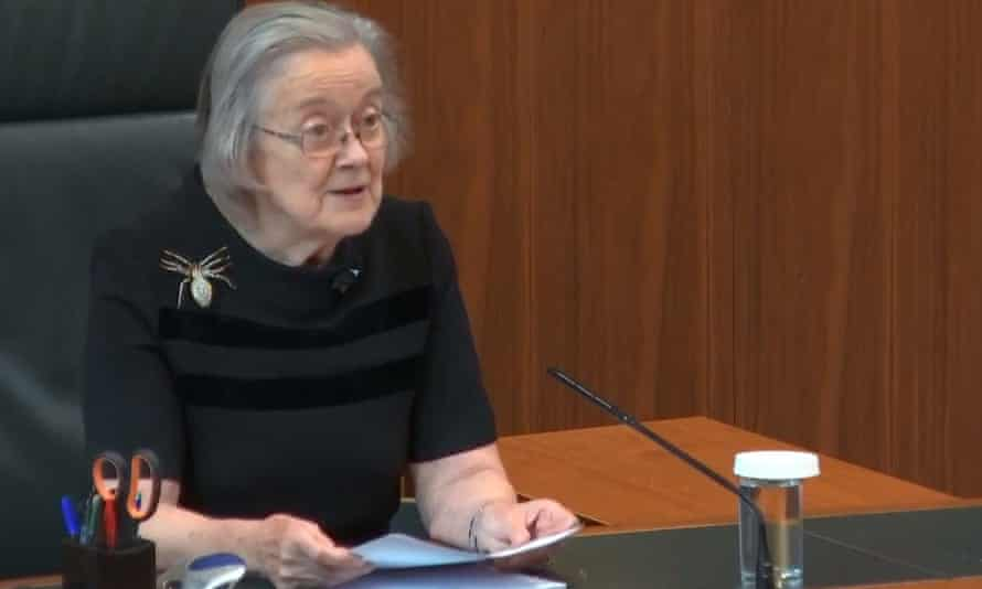 Lady Hale delivering the verdict on the prorogation of parliament, September 2019.