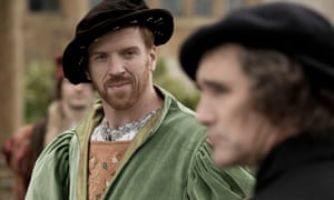 Damian Lewis as Henry VIII and Mark Rylance as Thomas Cromwell in Wolf Hall.