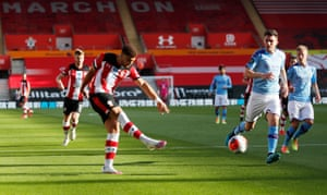 Southampton's Che Adams shoots at goal.