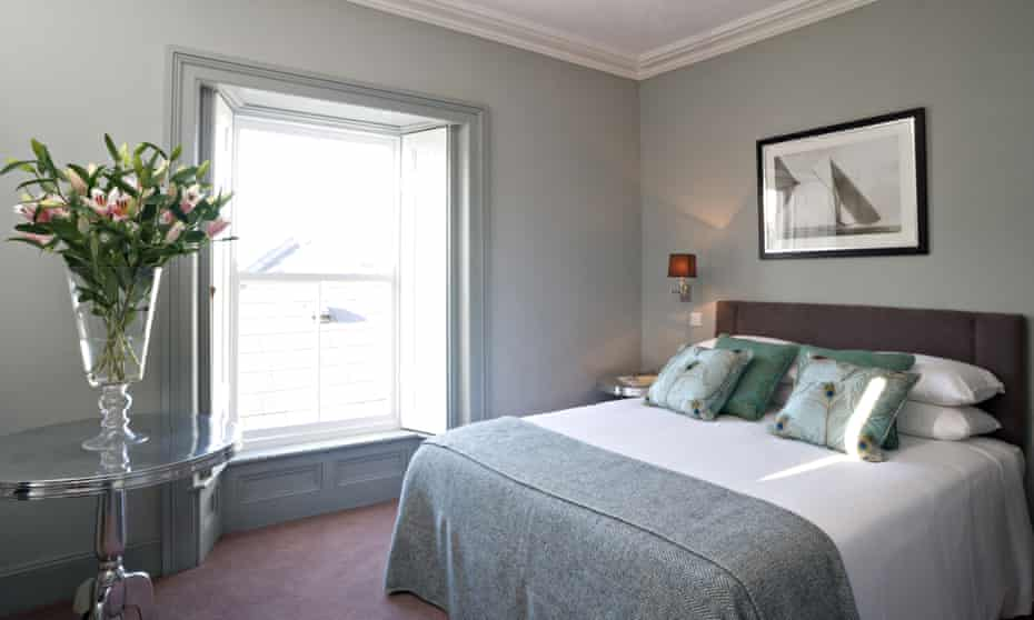 A double bedroom at the Tannery Townhouse, Waterford, Ireland.