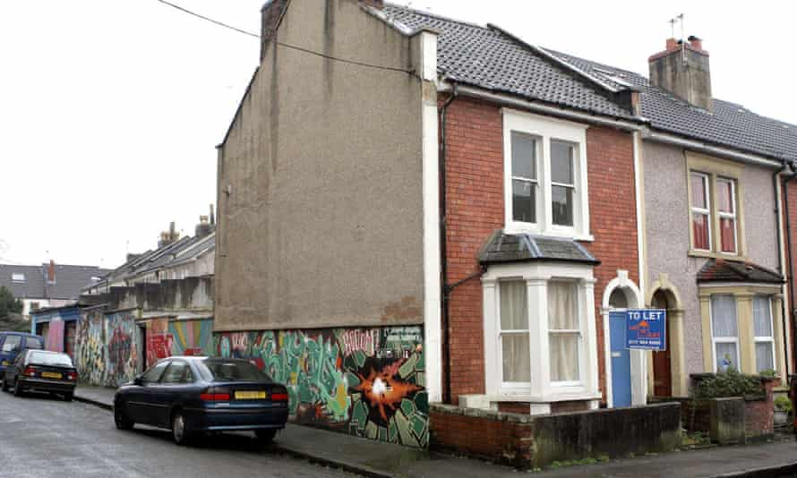 'Banksy for sale – with free house!' ... Anslow's five-bed end of terrace house in Bristol