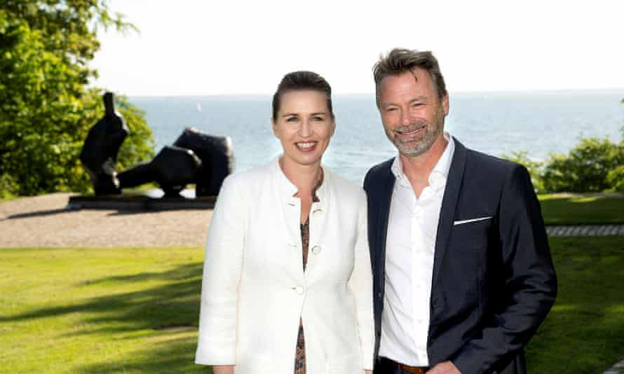 The Danish prime minister, Mette Frederiksen, with her fiance Bo Tengberg.