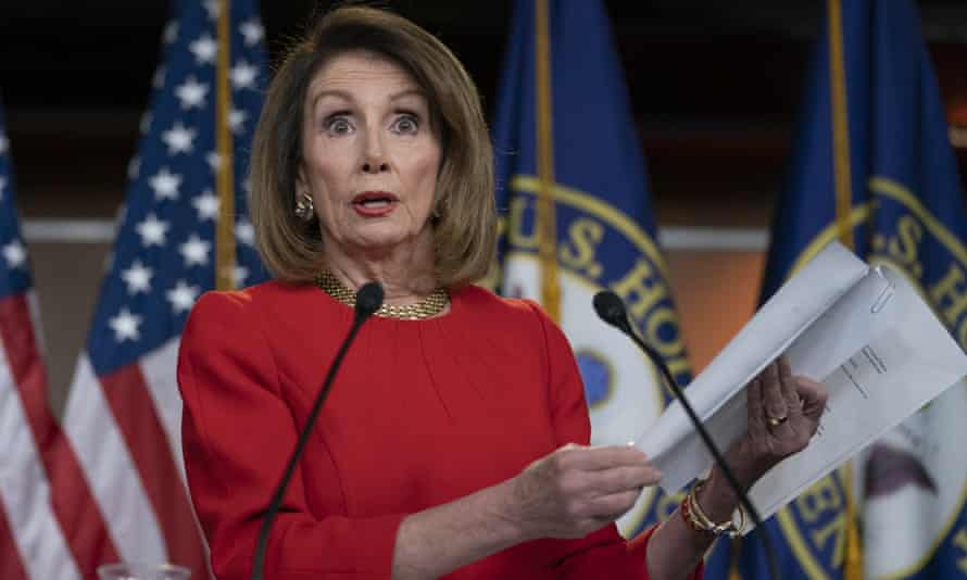 Nancy Pelosi holds a news conference on Capitol Hill.
