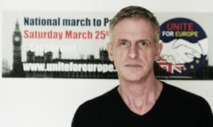 Peter French, organiser of the anti-Brexit protest march
