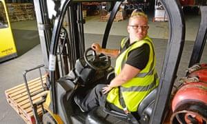 Forklift trainee Linda Kinnear