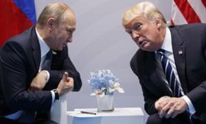 Vladimir Putin and Donald Trump meet at the G20 in Hamburg on Friday.