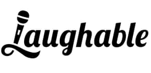 Laughable Logo Black on White Background Press publicity image