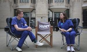 Junior doctors Rachel Clarke and Dagan Lonsdale