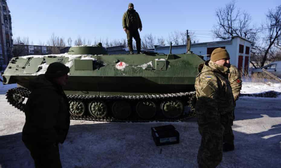 Ukrainian army medics in the town of Avdiivka