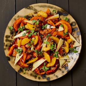 Yotam Ottolenghi's butternut squash with orange oil and burnt honey.