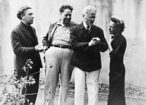 André Breton, Diego Rivera, Leon Trotsky and Jacqueline Lamba in Mexico.