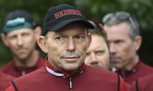 Tony Abbott at last month's Pollie Pedal