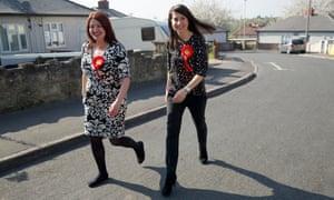 Liz Kendall and Natasha Millward campaigning in Dudley.