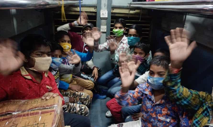 Children on bus