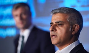 Conservative party London mayoral candidate Zac Goldsmith and Labour candidate Sadiq Khan take part in a debate on 12 April 2016