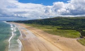 Benone Strand beach, Northern Ireland.